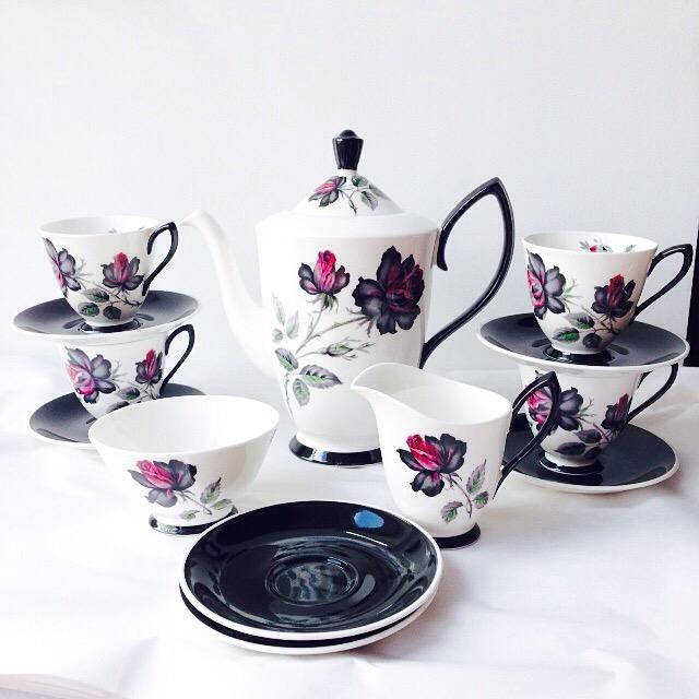a1fde60627b Royal Albert Masquerade Coffee Set English Fine Bone china